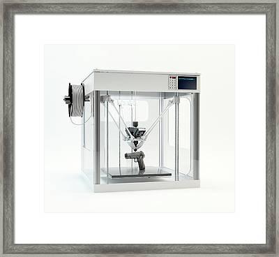 3d Printer Printing Pistol Framed Print by Andrzej Wojcicki