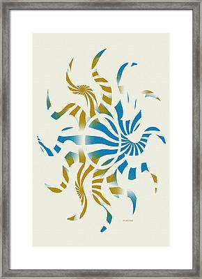 3d Spiral Art Framed Print
