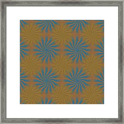 3d Spiral Pattern Framed Print