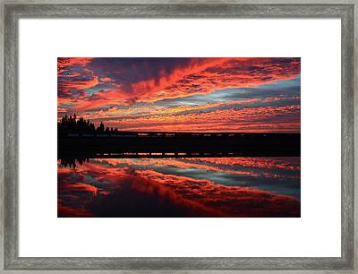 3d Sunset Framed Print
