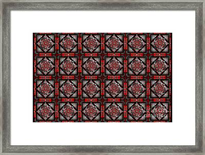 3d Tiles Framed Print by George Pasini