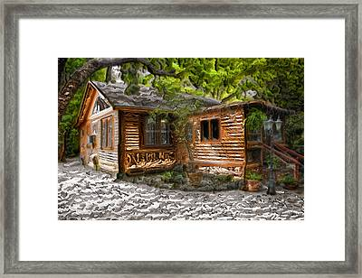 Wood Cabin Framed Print by Carlos Diaz
