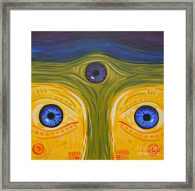 3eyes2c Framed Print