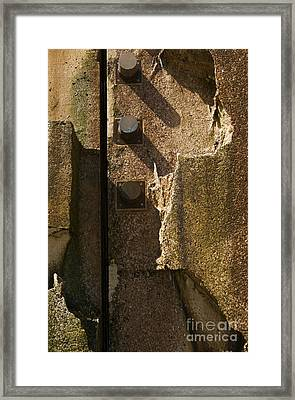 Framed Print featuring the photograph 3peg Abstract I by Sherry Davis