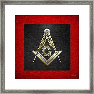3rd Degree Mason - Master Mason Masonic Jewel  Framed Print