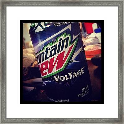 3rd #flavor Of #mountaindew #dew Framed Print