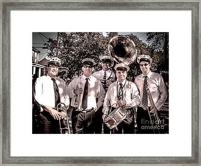 3rd Line Brass Band Framed Print