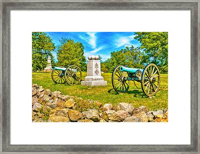 3rd Massachusetts Battery Gettysburg National Military Park Framed Print by Bob and Nadine Johnston