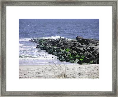 3rd Street Jetty Framed Print