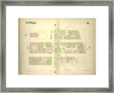 3rd Ward. Plate 6 Map Bounded By Fulton Street, Greenwich Framed Print by Litz Collection