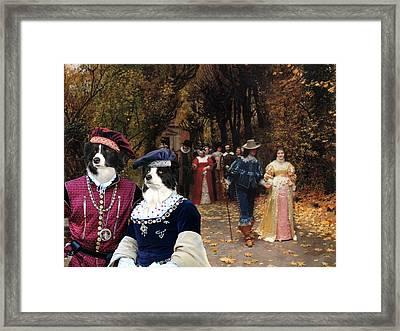 Border Collie Art Canvas Print Framed Print by Sandra Sij