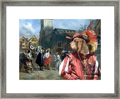 Spinone Italiano - Italian Spinone Art Canvas Print Framed Print