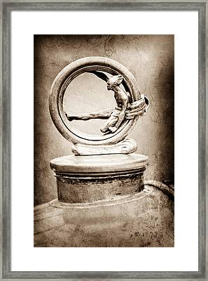 1912 Gobron-brillie 12 Cv Skiff Hood Ornament Framed Print by Jill Reger
