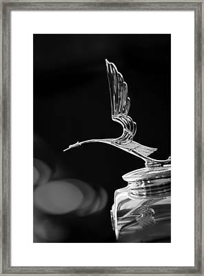 1929 Cadillac Hood Ornament Framed Print by Jill Reger