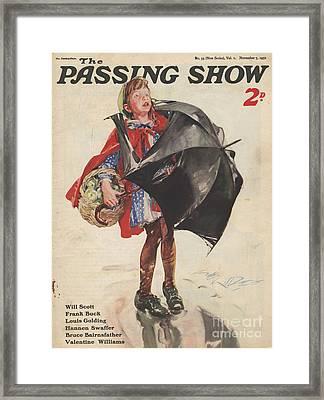 1930s,uk,passing Show,magazine Cover Framed Print