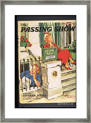 1930s,uk,the Passing Show,magazine Cover Framed Print