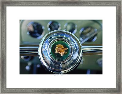 1933 Pontiac Steering Wheel Emblem Framed Print by Jill Reger