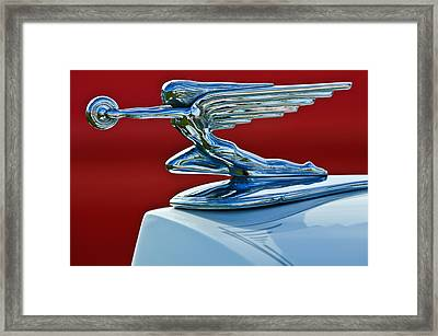 1936 Packard Hood Ornament Framed Print by Jill Reger