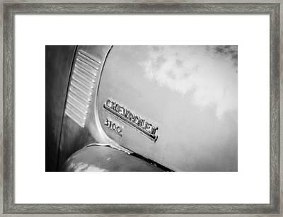 1949 Chevrolet 3100 Pickup Truck Emblem Framed Print