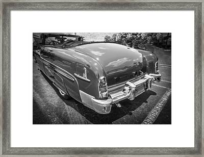 1951 Mercury Convertible Painted Bw  Framed Print by Rich Franco
