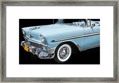 1956 Chevrolet Bel Air Convertible Framed Print by Rich Franco