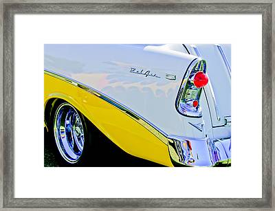 1956 Chevrolet Belair Nomad Taillight Emblem Framed Print by Jill Reger