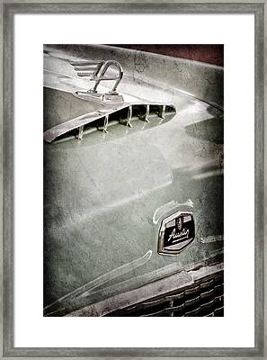1957 Austin Cambrian 4 Door Saloon Hood Ornament Framed Print by Jill Reger