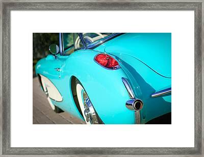 1957 Chevrolet Corvette Taillight Framed Print