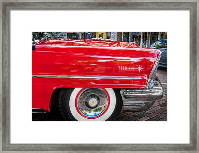 1957 Lincoln Premiere Coupe Painted  Framed Print by Rich Franco