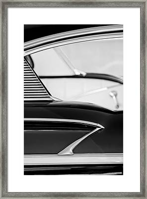 1958 Chevrolet Belair Abstract Framed Print
