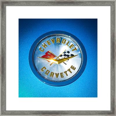 1958 Chevrolet Corvette Emblem Framed Print