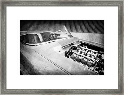 1960 Chevrolet Corvette Custom Engine Framed Print