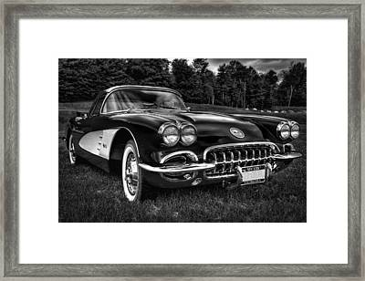 1960 Chevy Corvette Framed Print by David Patterson