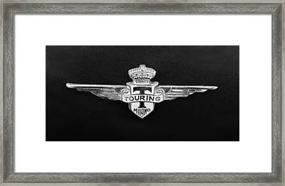 1962 Maserati 3500 Gt Emblem Framed Print