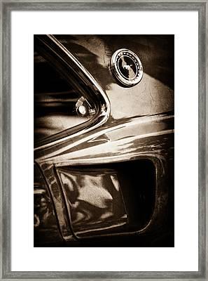 1969 Ford Mustang Mach 1 Emblem Framed Print