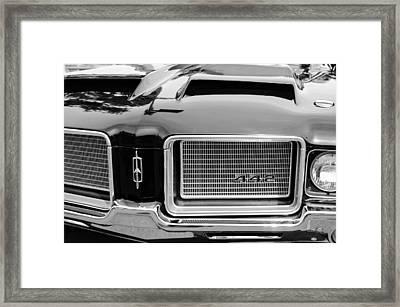 1972 Oldsmobile 442 Grille Emblem Framed Print by Jill Reger