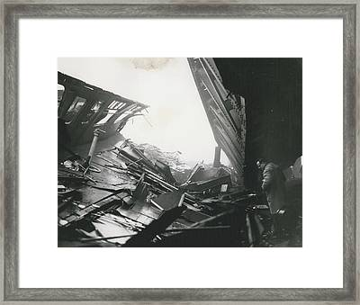 61 Die And 200 Injured In Lewisham Rail Disaster Framed Print by Retro Images Archive