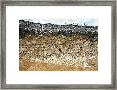 A Collapsed Coastal Road At Skipsea Framed Print