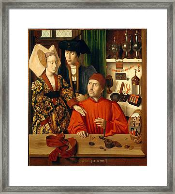 A Goldsmith In His Shop Framed Print