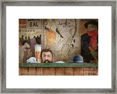 A Tall One... Framed Print