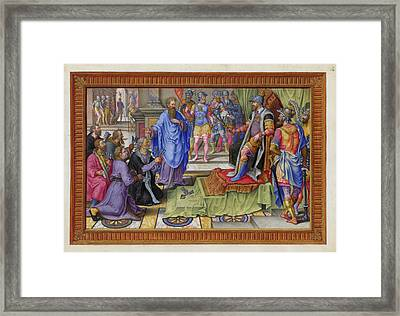 A Victory Of Emperor Charles V Of Spain Framed Print by British Library