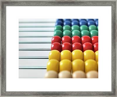 Abacus Framed Print by Tek Image