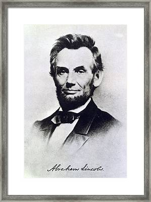 Abraham Lincoln Framed Print by Anonymous