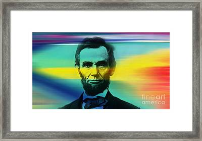 Abraham Lincoln Framed Print by Marvin Blaine