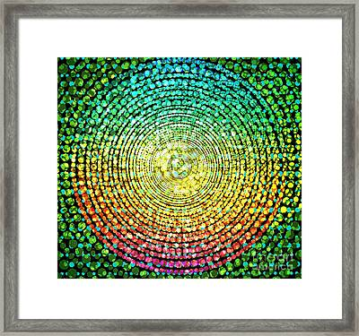 Abstract Dot Framed Print
