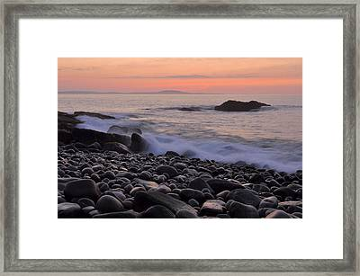 Acadia Dawn Framed Print by Stephen  Vecchiotti