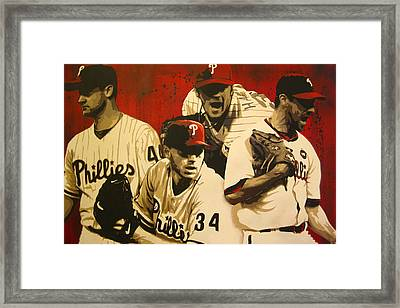 4 Aces Framed Print by Bobby Zeik