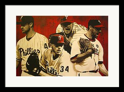 Roy Halladay Paintings Framed Prints