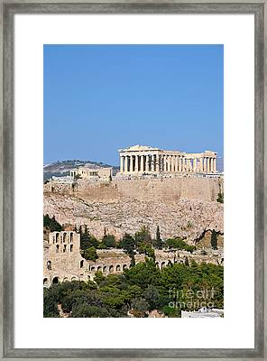 Acropolis Of Athens Framed Print