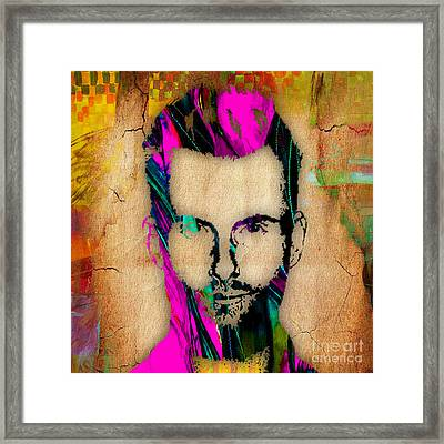 Adam Levine Framed Print by Marvin Blaine